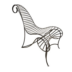 André Dubreuil Iron Spine Chair, executed by A.D. Decorative Arts, London