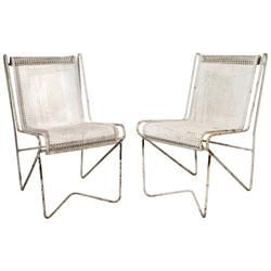 Mathieu Matégot Enamelled Steel Casablanca Chair