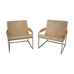 "Milo Baughman ""973"" Chairs, Pair"