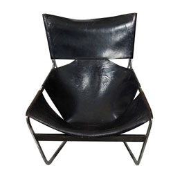 Pierre Paulin Leather F44 Lounge Chair