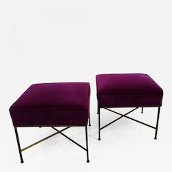 Paul McCobb Pair of Stools by Calvin