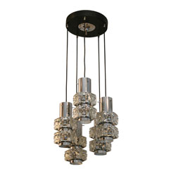 Crystal and Chrome Pendant Light