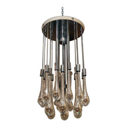 Venini Crystal Drop Chandelier (SOLD)