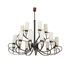 Grand Stilnovo Chandelier 18 Glass Tulips