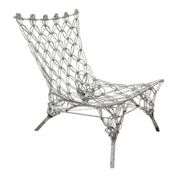 Marcel Wanders Limited Edition Silver Rope Knotted Chair for Cappellini(SOLD)
