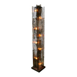 Mazzega Glass Column Floor Lamp