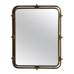 French Art Deco Bronze Mirror