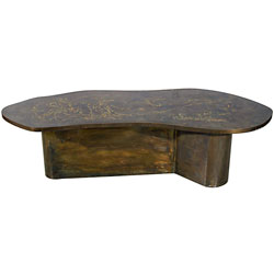 Philip and Kelvin Laverne Bronze Coffee Table
