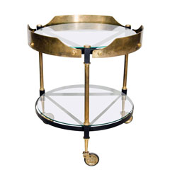 Round Brass Italian Beverage Cart(SOLD)