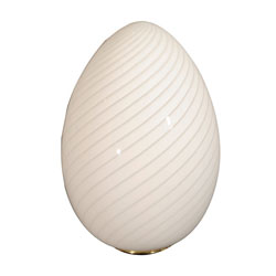 Swirled Murano Glass Egg Lamp