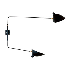 Serge Mouille Wall Sconce with 2 Straight Rotating Arms