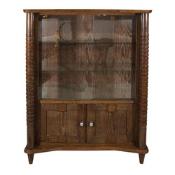 French Art Deco Limed Oak Cabinet