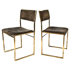 Willy Rizzo Set of Six Chairs