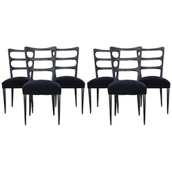 Paolo Buffa Set of Six Wood Chairs