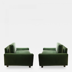 Harvey Probber Club Chairs, Pair