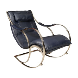 Leather and Chrome Rocking Chair(SOLD)