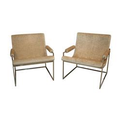 """Milo Baughman """"973"""" Chairs, Pair"""