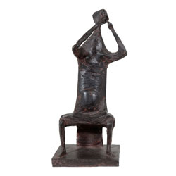 Henry Cliffe Bronze Female Musician(SOLD)