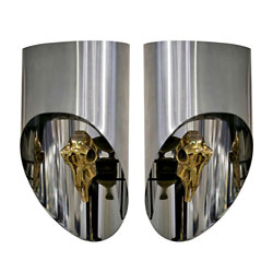 Lampe Totem Pair of Sconces by Maria Pergay(SOLD)