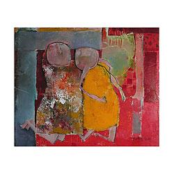 """""""Les Dormeurs"""" Painting by Colette Deyme"""