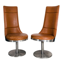 Maria Pergay Swiveling Chairs