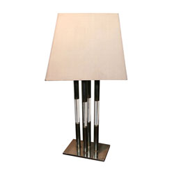 Metal & Lucite Table Lamp