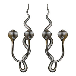 Pair of French Cobra Sconces
