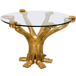 Pedro Friedeberg Hand & Foot Coffee Table, Signed