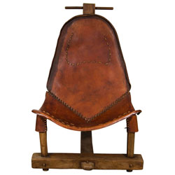 Rare Brown Brazilian Leather Chair