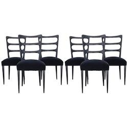 Paolo Buffa Set of Six Wood Chairs