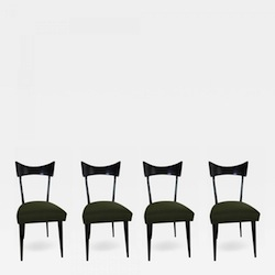 Ico Parisi Dining Chairs, Set of 12 Available